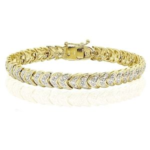 New Genuine 1.00ctw Chevron Diamond Bracelet!